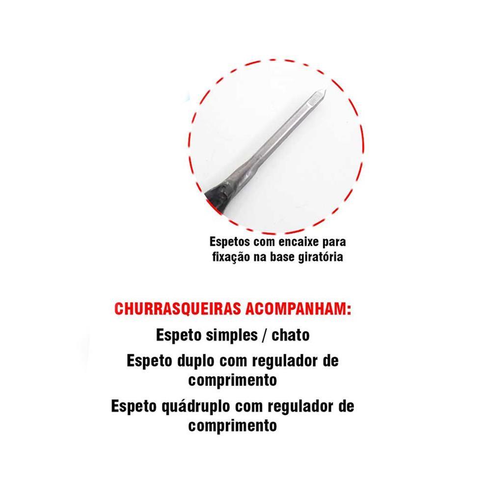 CHURRASQUEIRA ROTATIVA 7 ESPETOS SUSPENSOS EQUINOX